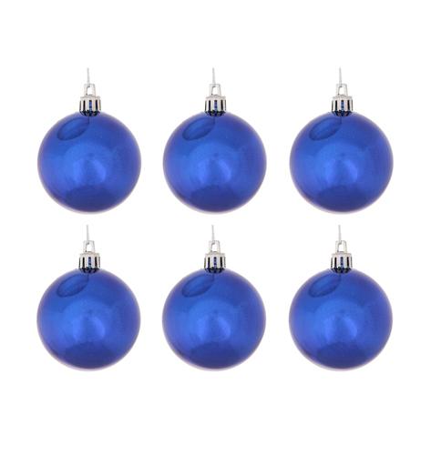 шар синий глянцевый 60 мм