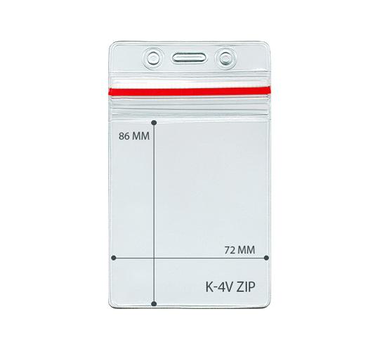 Карман вертикальный герметичный-КВ-K-4V Zip