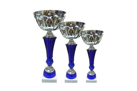 Кубки серебро-синий трех размеров