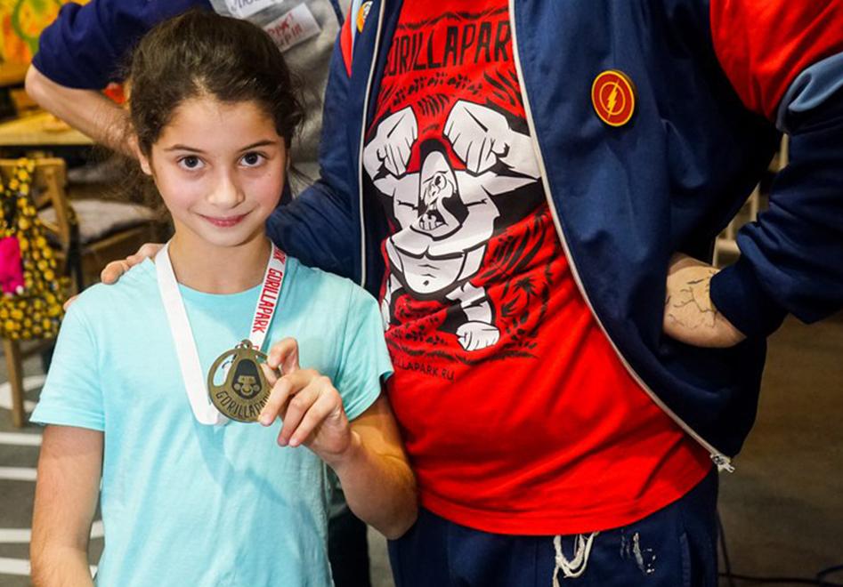 большая медаль маленькому спортсмену
