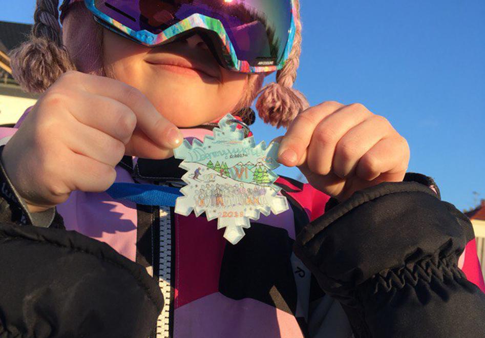 Медали для юных горнолыжников