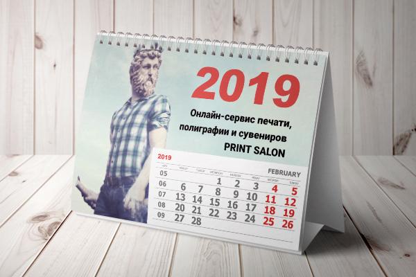 настольные перекидные календари на 2019 год