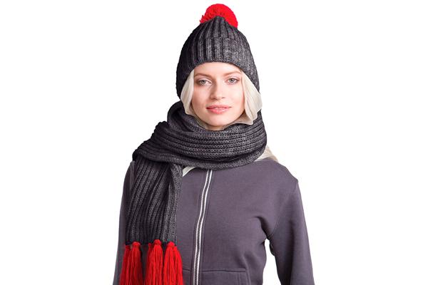комплект шапка и шарф под нанесение бренда