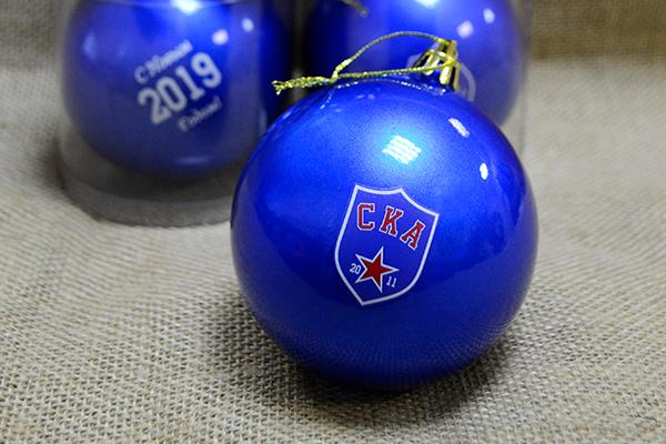 шары елочные с логотипом
