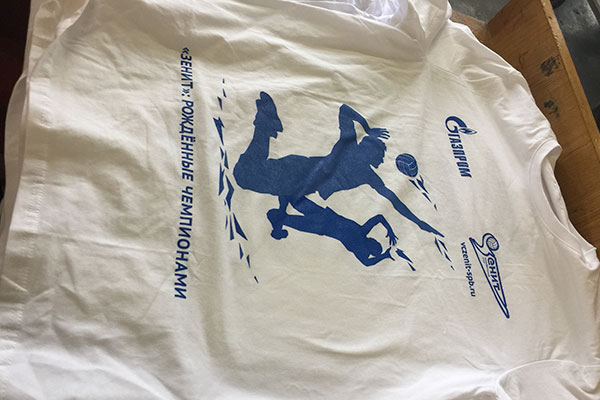 футболки с логотипом команды Зенит