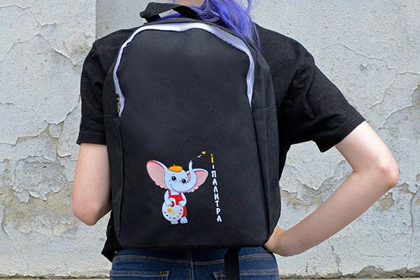 Рюкзак с печатью логотипа трансферной шелкографией