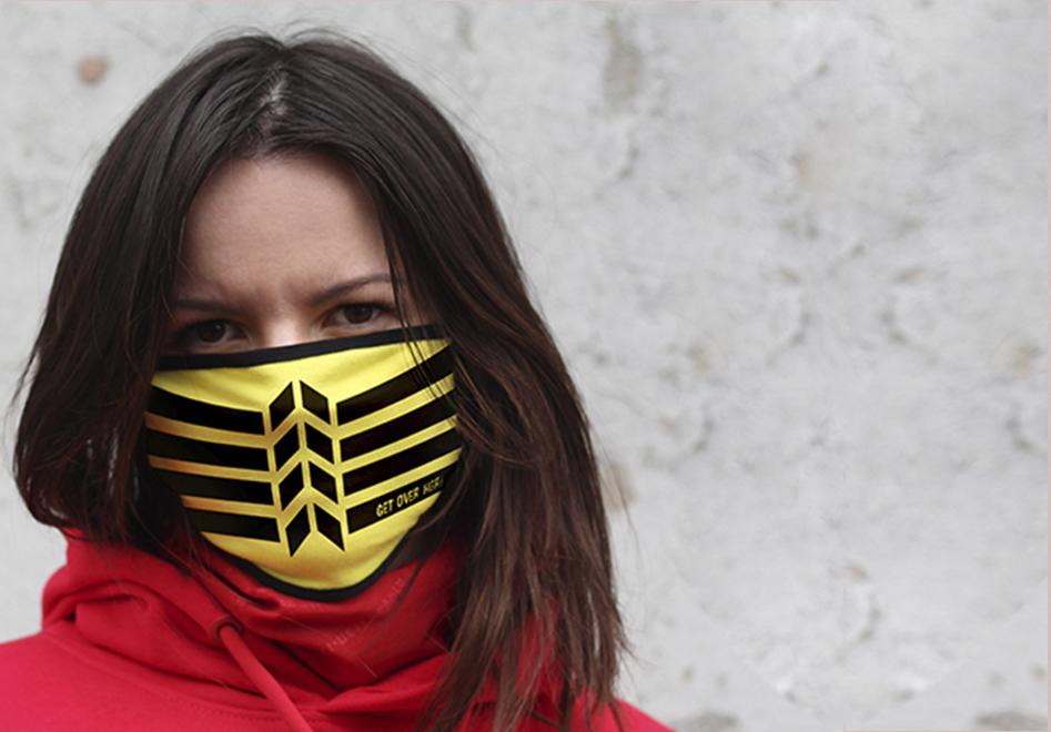 Текстильная маска с печатью